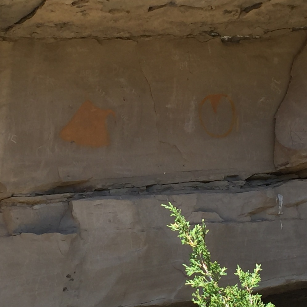 Native American Pictograph, Valley of the Shields, Montana